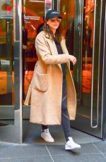 TROIAN BELLISARIO Leaves Her Hotel in New York 04/19/2017