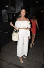 TULISA CONTOSTAVLOS at Dinner at Hakassan in Bandra 04/29/2017