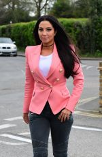 TULISA CONTOSTAVLOS Out and About in London 04/12/2017