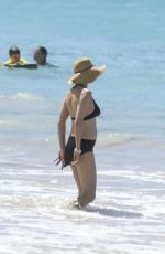 UMA THURMAN in Bikini on the Beach in St Barth 04/01/2017