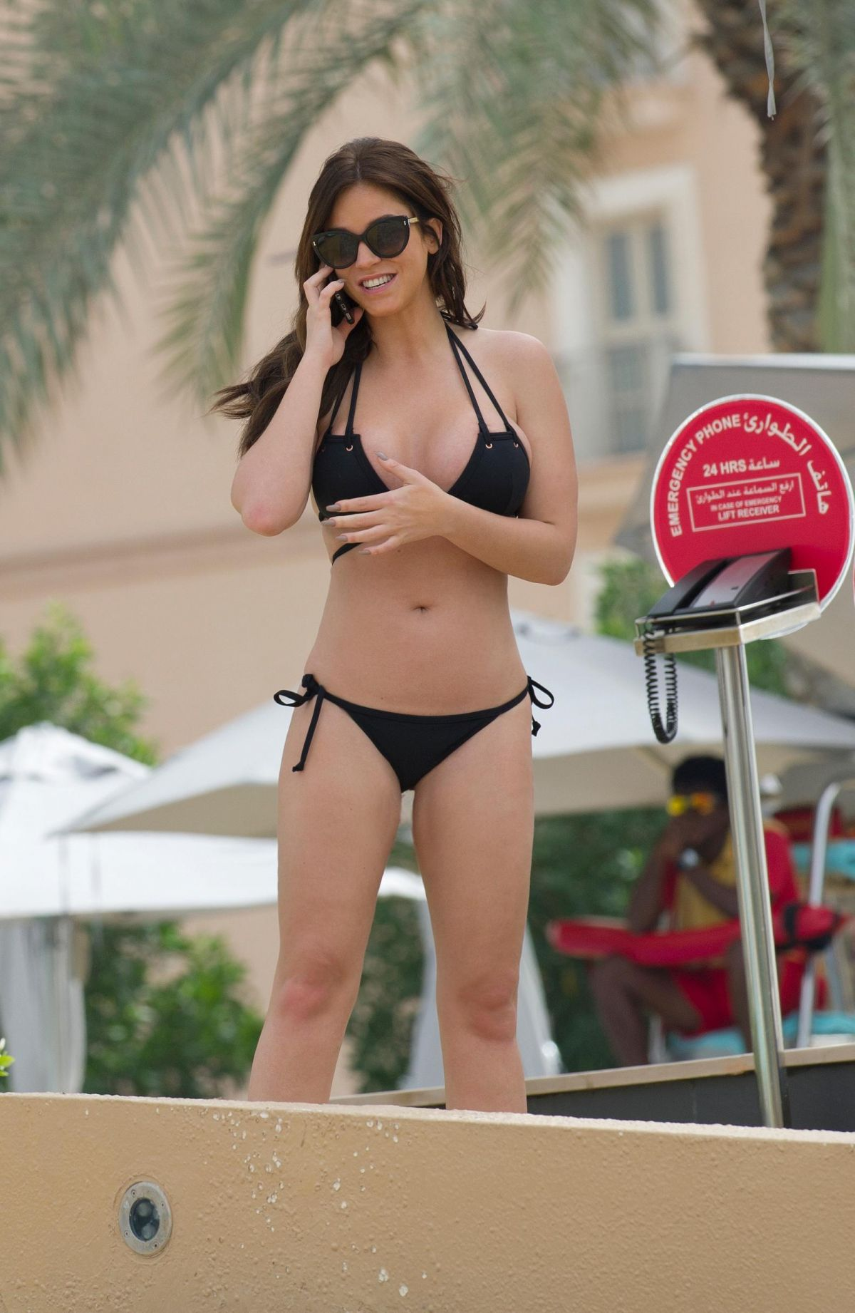 VICKY PATTISON in Bikini on Vacation in Dubai 03/26/2017