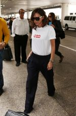 VICTORIA BECKHAM Arrives at LAX Airport in Los Angeles 04/17/2017