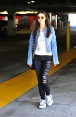 VICTORIA JUSTICE Leaves a Parking Lot in Los Angeles 04/03/2017