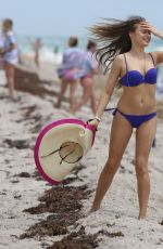 XENIA TCHOUMITCHEVA in Bikini on the Beach in Miami 04/22/2017