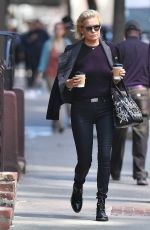 YOLANDA HADID Out and About in New York 04/10/2017