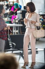 ZOE KRAVITZ on the Set of Rough Night at JFK Airport in New York 04/20/2017
