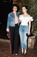 ZOE LISTER-JONES at Sally Singer and Lisa Love Denim Dinner in Los Angeles 04/05/2017