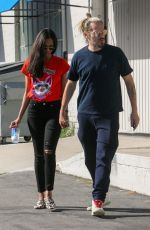 ZOE SALDANA and Marco Perego Out in West Hollywood 04/13/2017