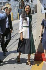 ZOE SALDANA Arrives at Chris Pratt