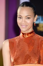 ZOE SALDANA at Guardians of the Galaxy Vol. 2 Premiere in Hollywood 04/19/2017