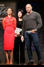 ZOE SALDANA at Guardians of the Galaxy Vol. 2 Press Conference in Tokyo 04/11/2017