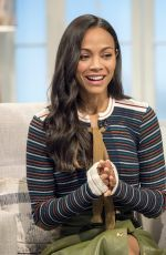 ZOE SALDANA at Lorraine Show in London 04/24/2017