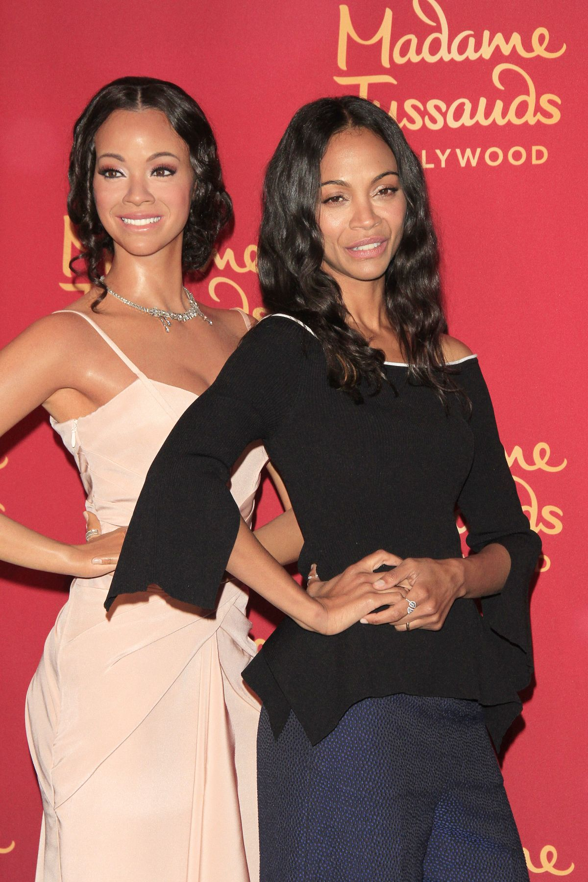 ZOE SALDANA at Madame Tussaud