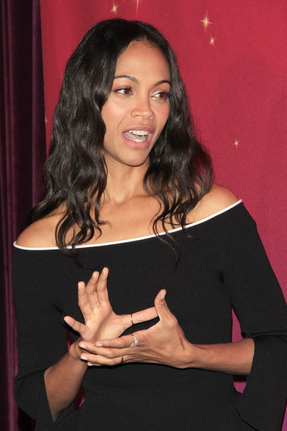 ZOE SALDANA at Madame Tussaud's Hollywood Unveiling of Her ... Zoe Saldana