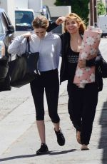 ZOEY DEUTCH and LEA THOMPSON Out in Beverly Hills 04/13/2017