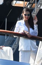 ADRIANA LIMA and CARMEN JORDA at a Yacht in Monte Carlo 05/28/2017