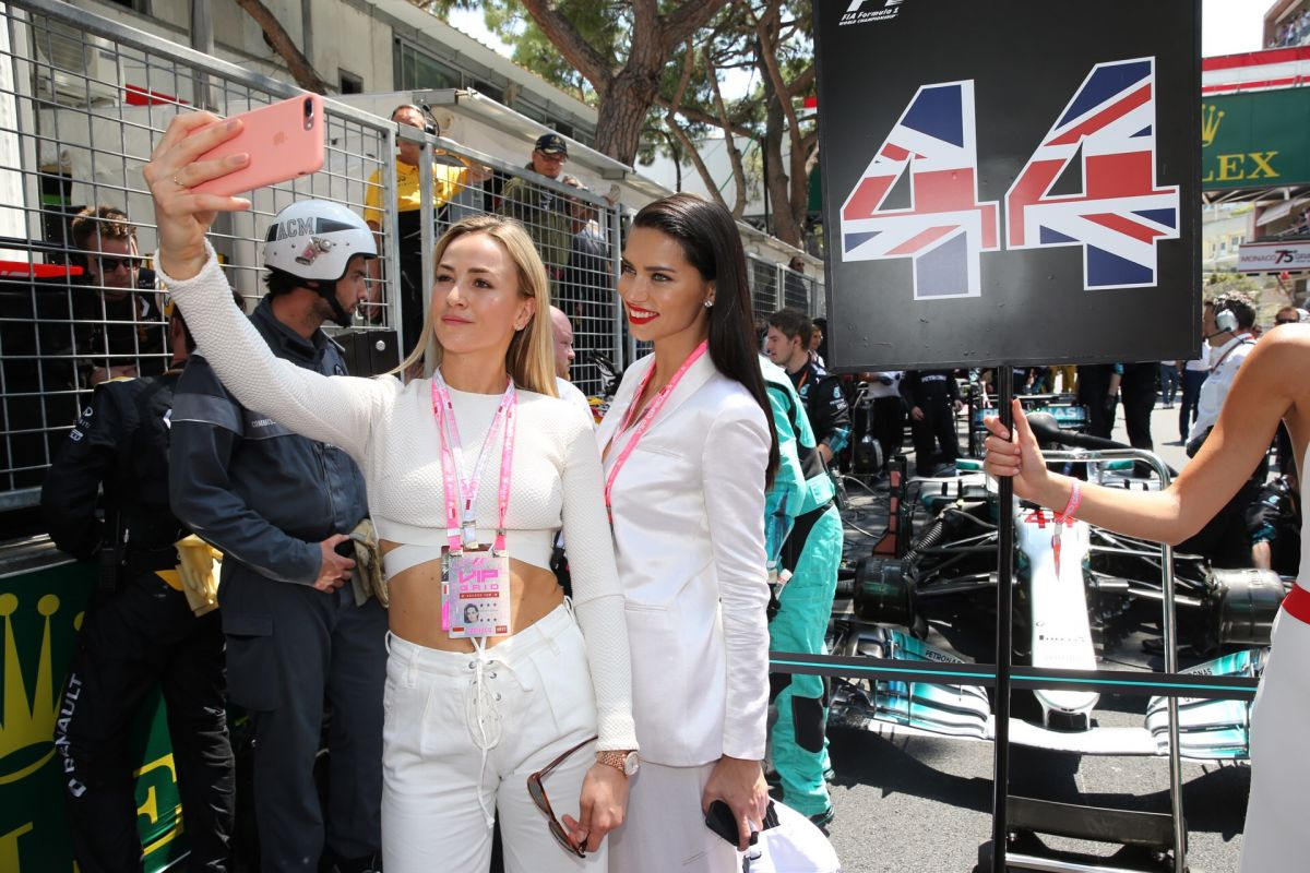 ADRIANA LIMA and CARMEN JORDA at Monaco Formula One Grand Prix in Monaco 05/28/2017
