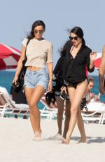 ADRIANA LIMA and PRIYANKA CHOPRA in Bikinis on the Beach in Miami 05/12/2017