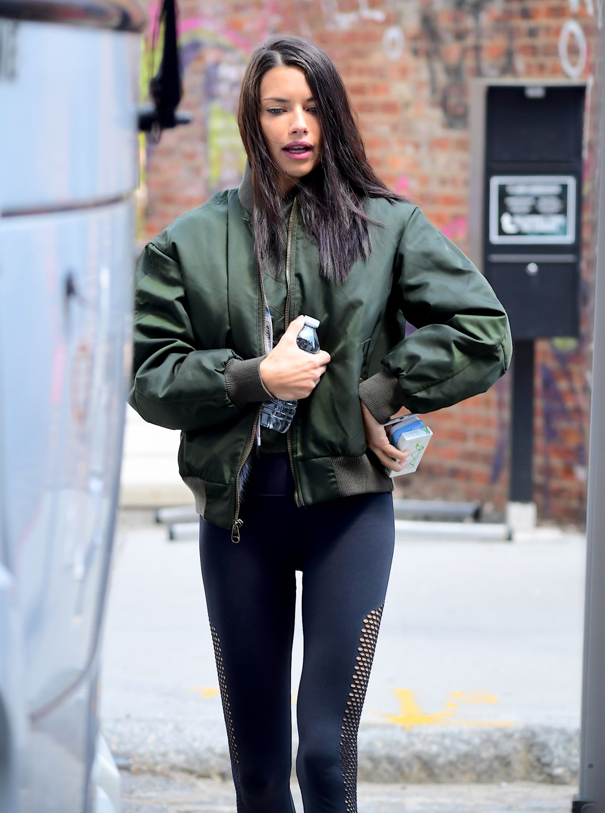 ADRIANA LIMA Leaves a Gym in New York 05/10/2017