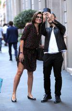 ALENA SEREDOVA Out Shopping in Milan 05/17/2017