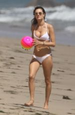 ALESSANDRA AMBROSIO in Bikini at a Beach in Malibu 05/28/2017