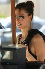 ALESSANDRA AMBROSIO in Leggings Out in Brentwood 05/04/2017