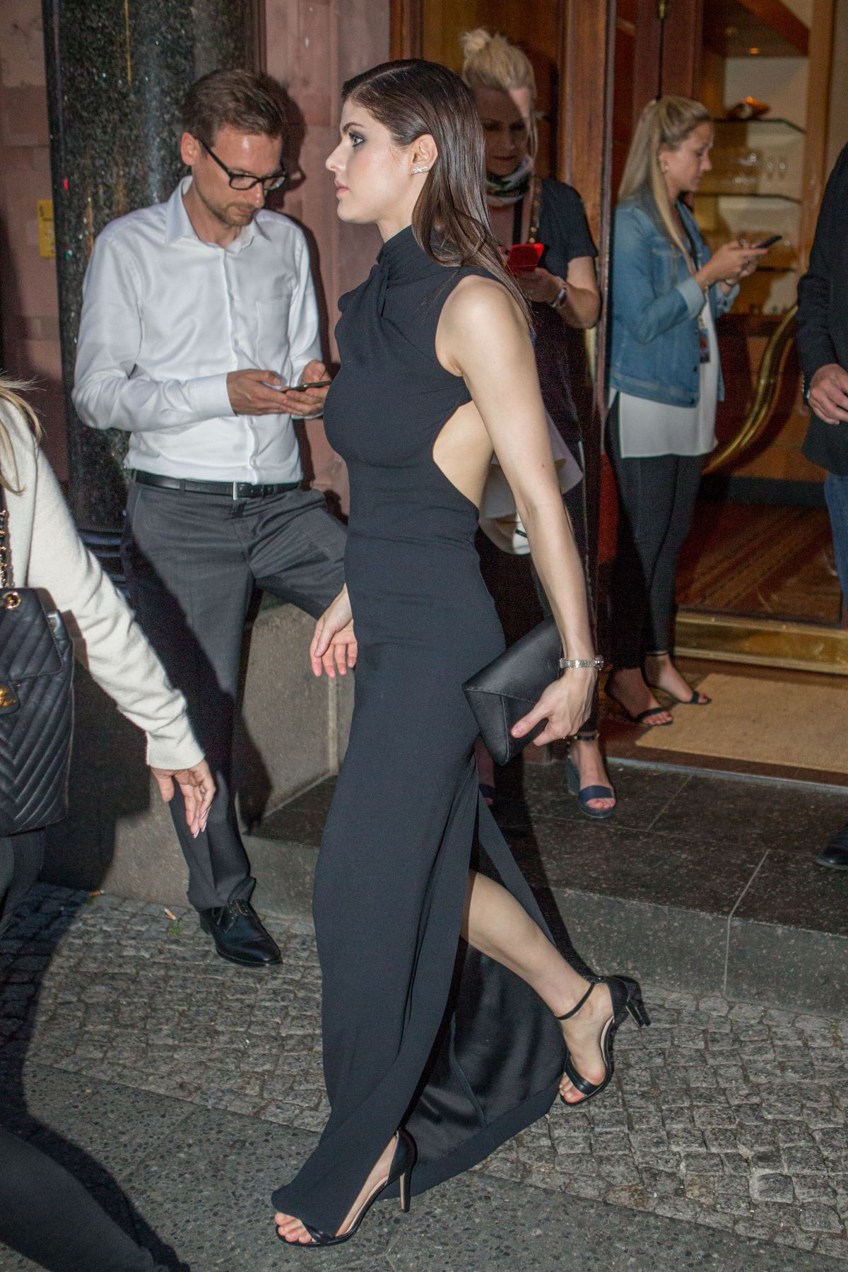 ALEXANDRA DADDARIO Arrives at Borchardt Restaurant in Berlin 05/30/2017