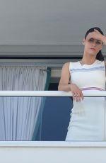 ALEXANDRA DADDARIO at Her Hotel Balcony in Miami 05/14/2017