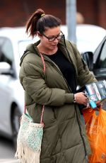 ALISON KING Out Shopping in Wilmslow 05/08/2017