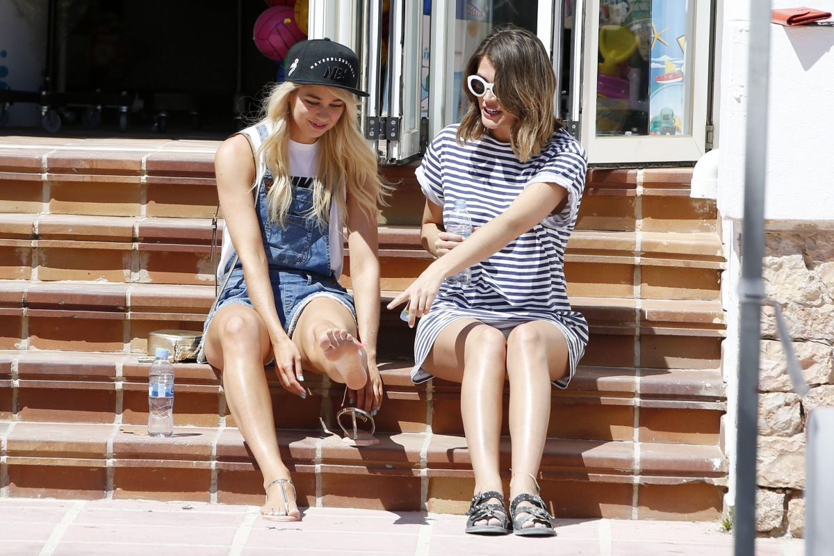 AMANDA CLAPHAM and SOPHIE PORLEY Out and About in Ibiza 05/11/2017