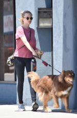 AMANDA SEYFRIED Walks Her Dog Out in West Hollywood 05/16/2017