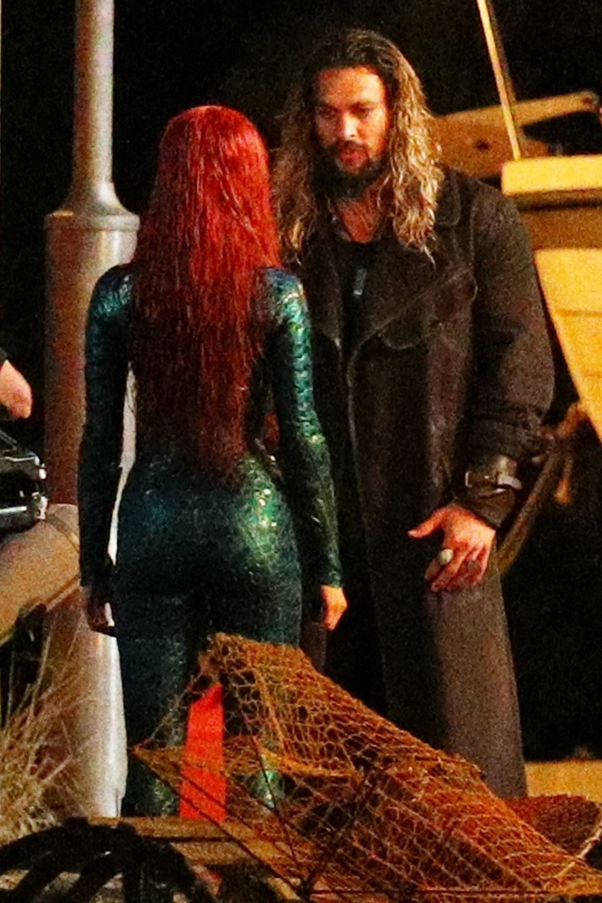 AMBER HEARD on the Set of Aquaman in Gold Coast 05/26/2017
