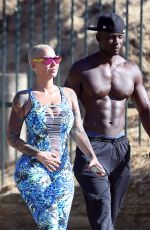 AMBER ROSE Out and About in Hollywood 05/23/2017