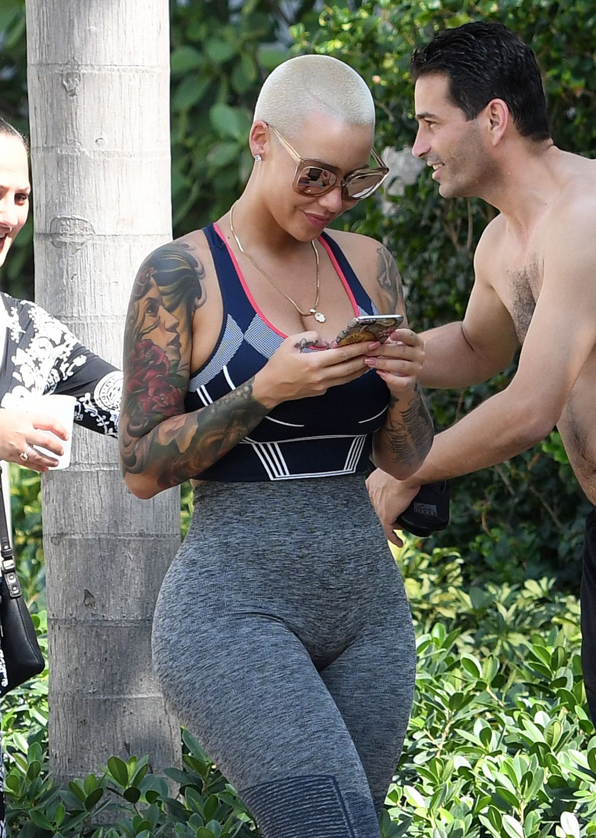 AMBER ROSE Out on Ocean Drive in Miami Beach 05/15/2017