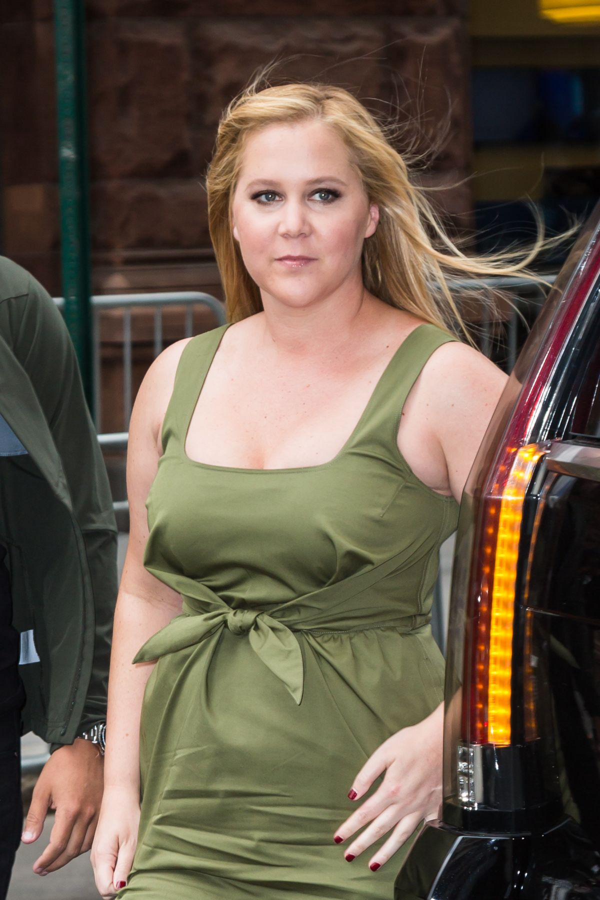 AMY SCHUMER Arrives at AOL Studios in New York 05/03/2017