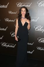 ANDIE MACDOWELL at Chopard Trophy Event in Cannes 05/22/2017