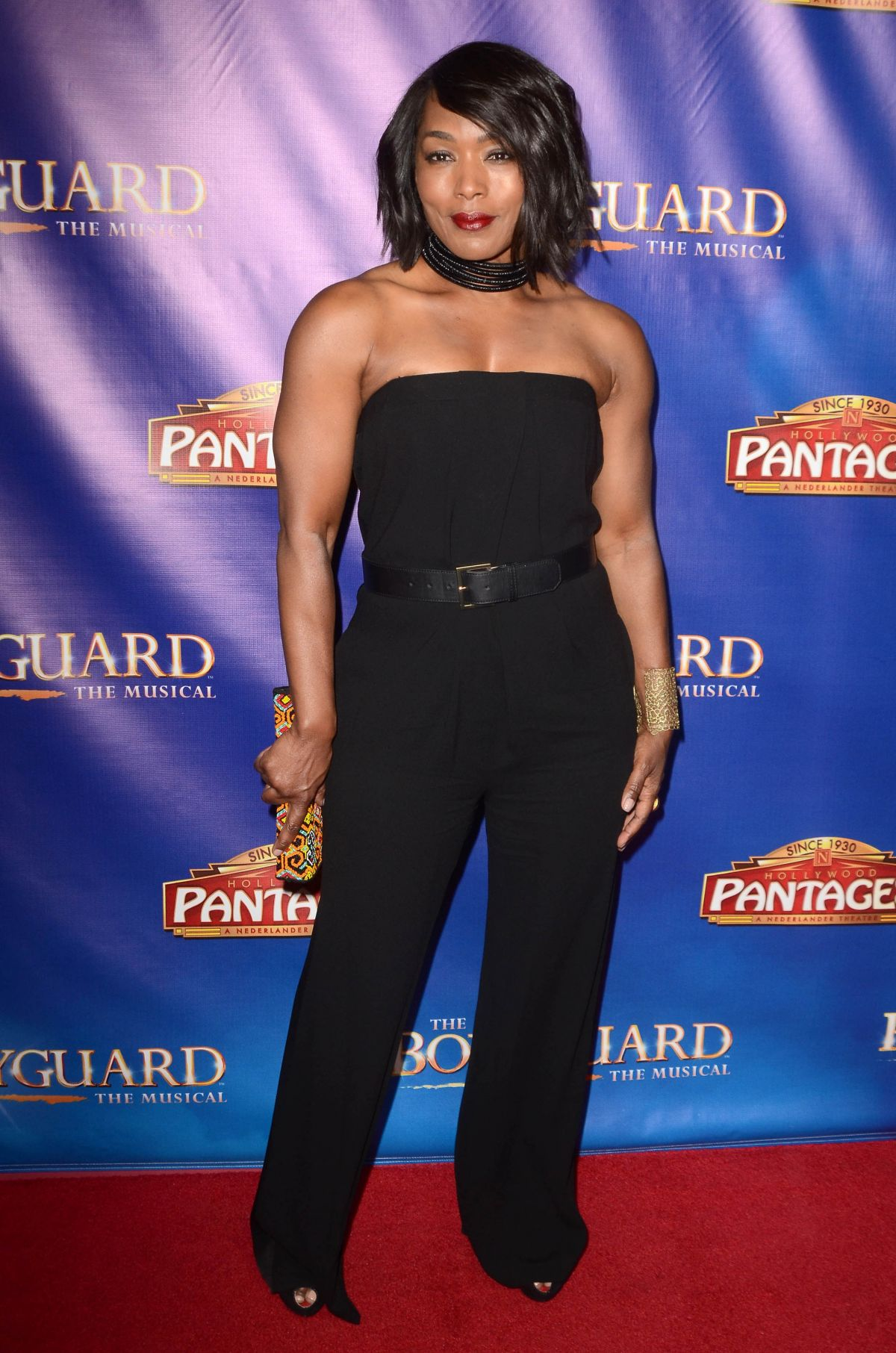 ANGELA BASSETT at The Bodyguard Opening Night in Los ...