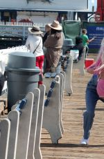 ANGELIQUE FRENCHY MORGAN at Malibu Pier in Malibu 05/15/2017