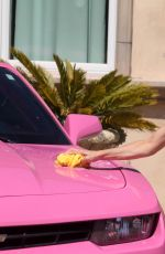 ANGELIQUE FRENCHY MORGAN in Bikini Washing Her Pink Camaro 05/22/2017