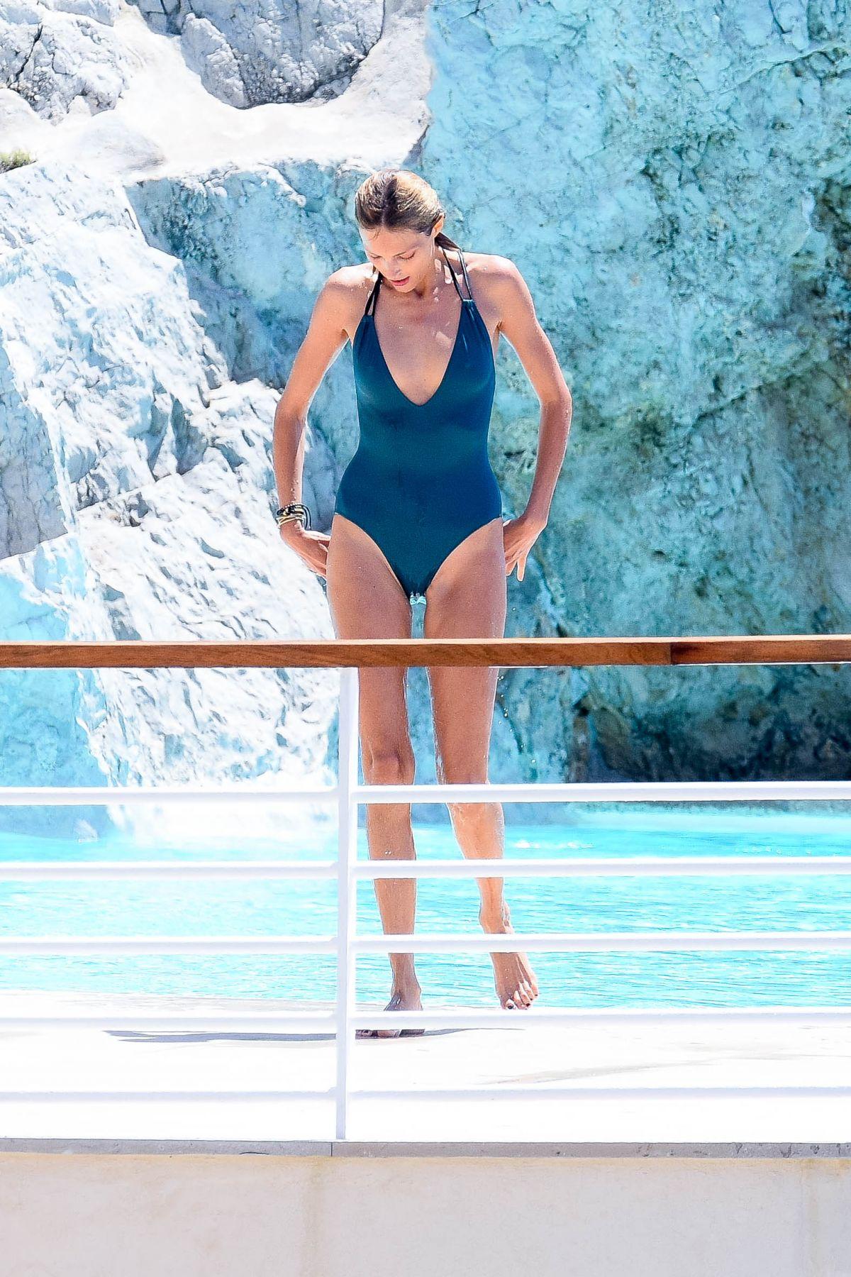 ANJA RUBIK in Swimsuit at Hotel Du Cap Eden Roc in Antibes 05/21/2017