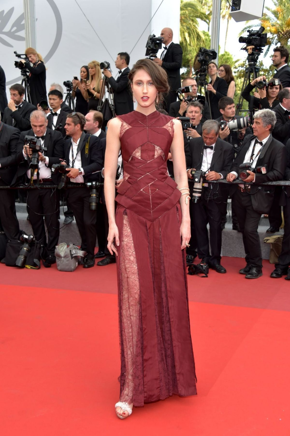 ANNA CLEVELAND at The Killing of a Sacred Deer Premiere at 70th Annual Cannes Film Festival 05/22/2017