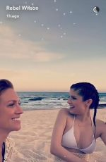 ANNA KENDRICK in Bikini at a Beach, 05/13/2017 Snapchat Pictures