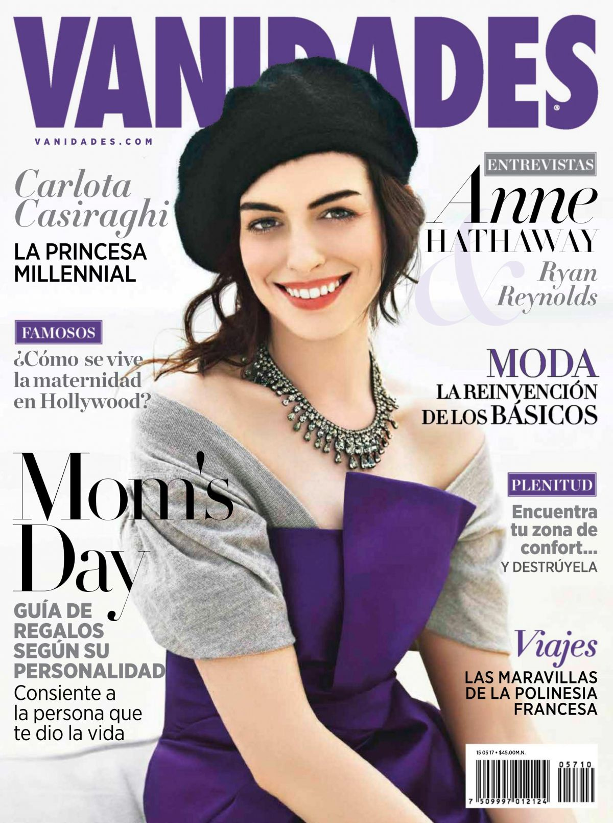 ANNE HATHAWAY in Vanidades Magazine, Mexico May 2017 Issue