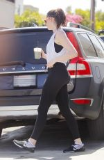 ANNE HATHAWAY Leaves a Gym in West Hollywood 05/16/2017