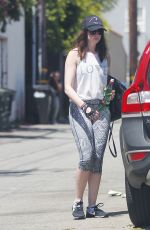 ANNE HATHAWAY Leaves a Gym in West Hollywood 05/19/2017