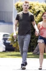 ARIEL WINTER in Denim Shorts Out for Lunch in Studio City 05/24/2017