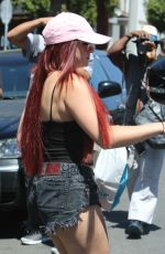 ARIEL WINTER Shows New Red Hair Color at Nine Zero One Salon in West Hollywood 05/19/2017