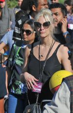 ASHLEE SIMPSON at Universal Studios in Hollywood 05/30/2017
