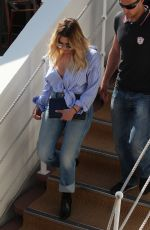 ASHLEY BENON in Jeans Out in Cannes 05/21/2017