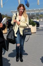 ASHLEY BENSON Arrives Airport in Nice 05/24/2017